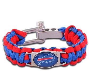 Buffalo Bills Paracord Survival Bracelet with Adjustable Shackle