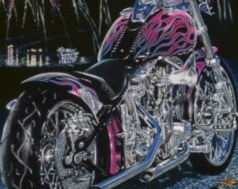 Shovel - Motorcycle Metal Sign