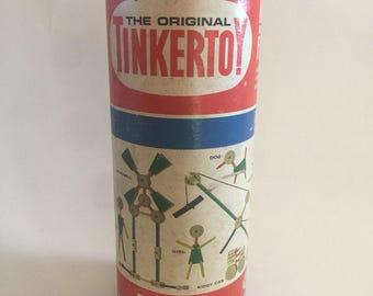 Original wooden TinkerToy complete set!