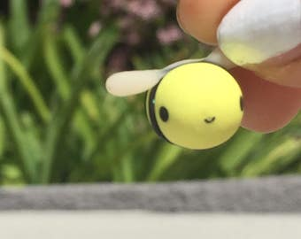 Kawaii Clay Bumble Bee Charm Polymer Clay