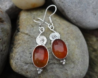 of the Baltic amber earrings, enthusiam