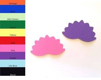 25 pack - Paper Lotus Flower Shapes, Lotus Flower Die Cut, Lotus Flower Cut Outs, Party Supplies, Scrapbooking Supplies