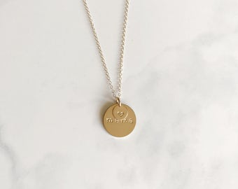 Mama necklace - personalized charm - gold charm necklace - monogram necklace- Dainty necklace - minimalist