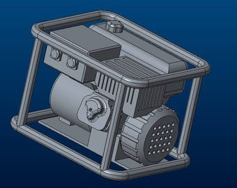 Scale 1/10 petrol generator 3D printable model