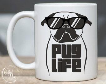 Pug Mug, Pug Life Mug, Funny Pug Coffee Mug, Pug Mom Mug, Pug Dad Gift, Pug Gifts