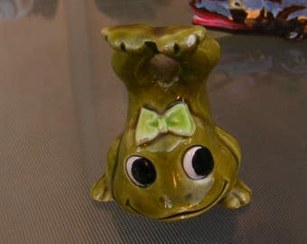 1970's Girl Frog Doing A Headstand