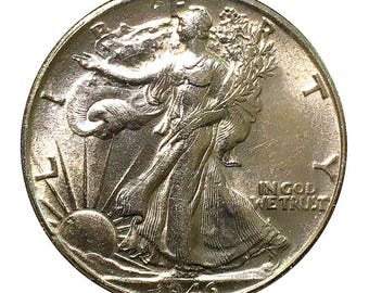 1946 S Walking Liberty Half Dollar / 50C - BU / MS RD / Unc - Luster