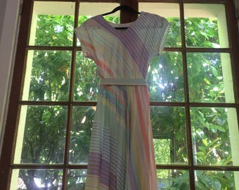 Vintage 80s Just In Thyme LTD Pastel Dress size M