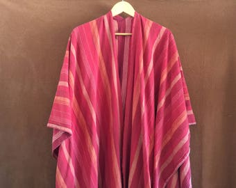Linen Indian Blanket Poncho