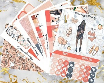 Life's a Peach - Full Weekly Planner Kit - over 180 stickers