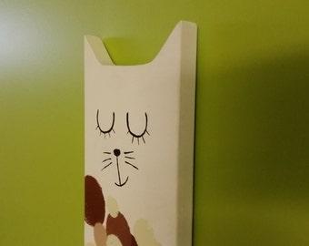 Dream Cat Handmade Wooden Wall Decor