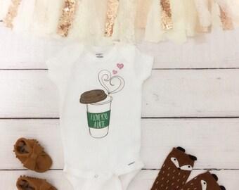 I love you a latte onesie, coffee onesie, baby girl onesie, cute baby onesie, starbucks onesie, funny baby onesie, hipster onesie
