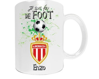 Personalized mug got Monaco football league1 with your name