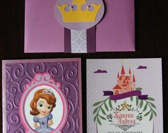 Sophia Princess Invitation Handmade