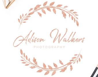 Premade Logo, Photography logo, Watermark, Blog branding kit, Premade logos, Calligraphy logo, Rose gold, Rose gold logo, gold logo