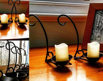 Handmade candle holders, candle holders, blacksmith, candles