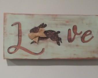 cedar rabbit Love sign