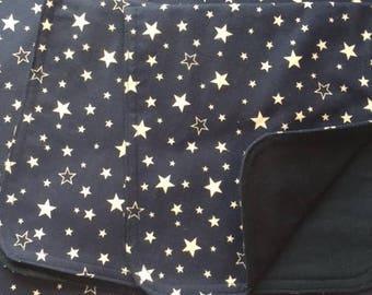 Stars Reversible Baby Blanket & Burp Cloth Set
