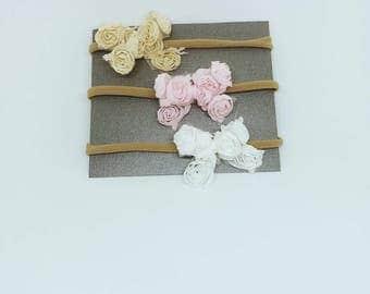 Baby headbands   pink headbabds   white headbands