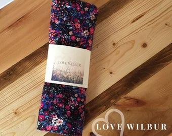 Large Baby Swaddle Blanket- Floral