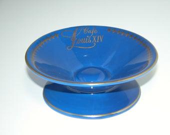 """Hall China Blue """"Louis XIV Café"""" Mint Dish"""