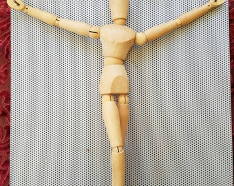 Maniquin folk art jesus from known atlanta artist Jeremy Gibbs for your wall!