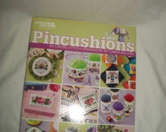 Leisure Arts Pincushions Book 60 Cross Stitch Designs by Linda Gillum