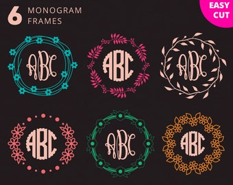 "Shop ""monogram circle svg"" in Bookbinding & Printing Supplies"