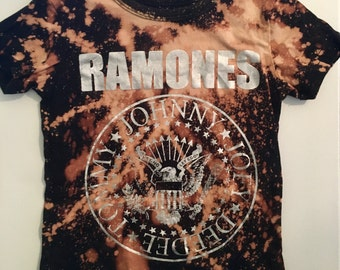 1T CUSTOM girls Ramones shirt