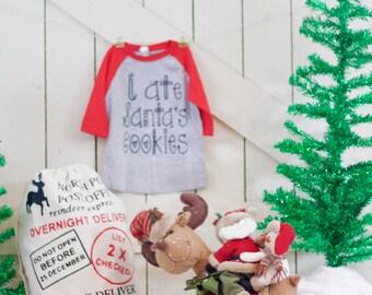 I Ate Santas Cookies Christmas Shirt