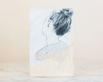 Turn Away // original drawing on plywood