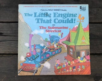 Disney's Little Engine that Could and the Submarine Streetcar 1954 LP, used/light wearing vintage