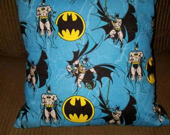 "Batman Blue Flannel 16""x 16"" Decorative Throw Pillow (with Insert)"