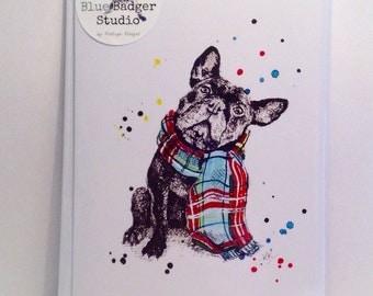 French Bulldog Winter Card