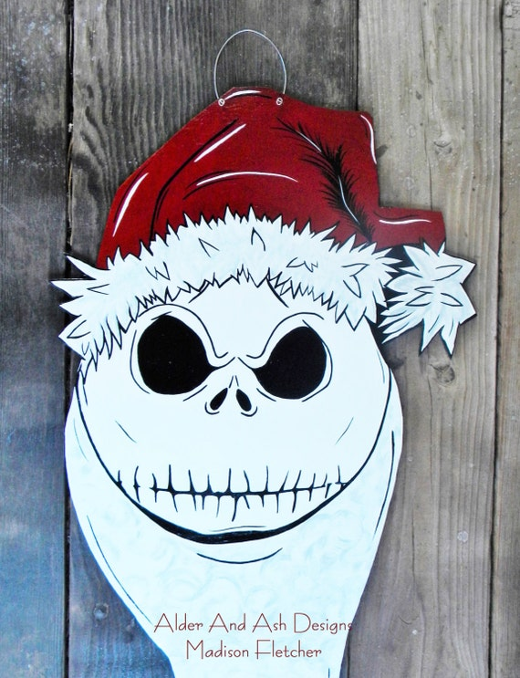 Nightmare Before Christmas Inspired Door Hanger Jack