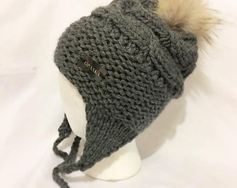 ANIBIC + - Tuque for adult with earmuffs