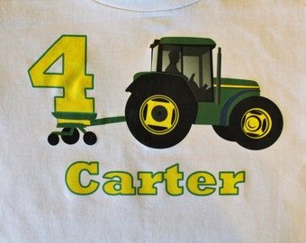 Tractor birthday shirt/Personalized birthday shirt for boys