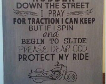 Motorcycle prayer