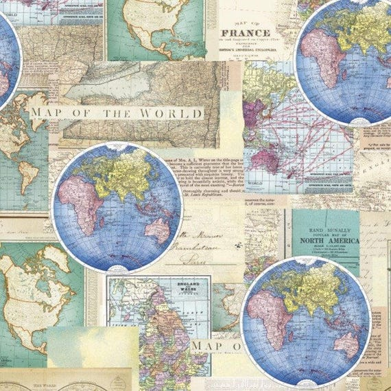 Vintage cartography cotton fabric by the yarddavid textilesfree vintage cartography cotton fabric by the yarddavid textilesfree shipping availablemap fabricworld fabricworld mapvintageyour fleece from yourfleece gumiabroncs Gallery