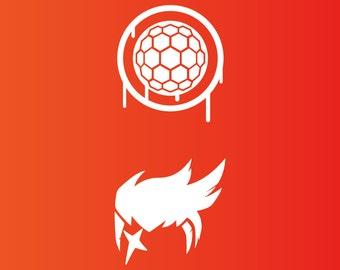 Overwatch Zarya Decal Sticker - 2 VERSIONS!