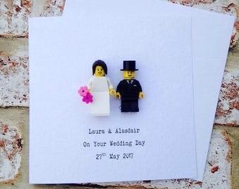 Personalised Lego Bride & Groom Wedding Card