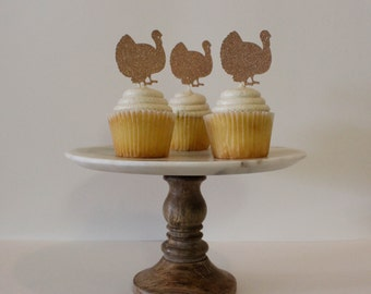Turkey Cupcake Toppers (6 Count)