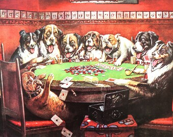 Poker Sympathy ( dogs playing Cards)