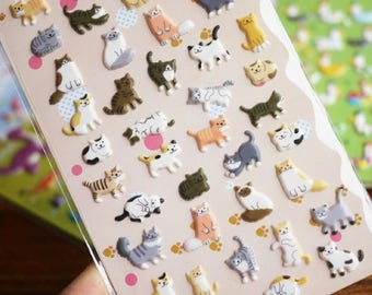 Stickers with assorted designs kittens