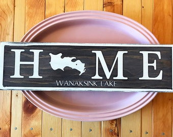 Lake Home Sign-Custom Lake Sign-Cabin Sign-Lake Home Sign-Cabin Decor