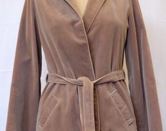 "Vintage 1970s beige velvet ""Dominex"" jacket"