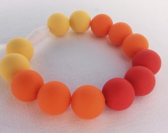 Silicone pearls bracelet mama teether baby