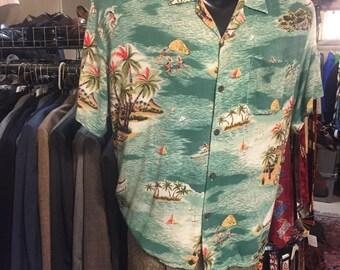 Such a wonderful tropical hawaiian shirt of the 1960s
