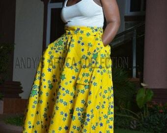 Ankara handmade maxi skirt/African skirt/ maxi skirt/ Ghana maxi skirt
