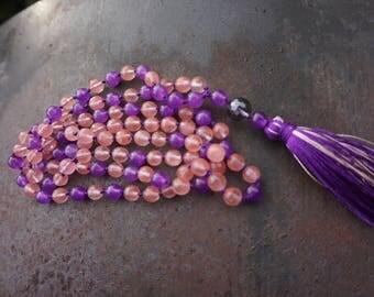 Jade,Rock Crystal Guru bead, 108+1 bead